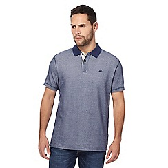 Mantaray - Navy textured polo shirt