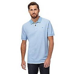 Mantaray - Light blue textured polo shirt