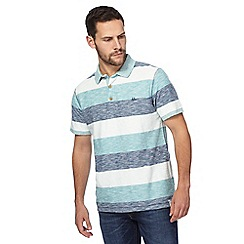 Mantaray - Blue striped polo shirt