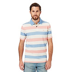 Mantaray - Big and tall multi-coloured textured striped polo shirt