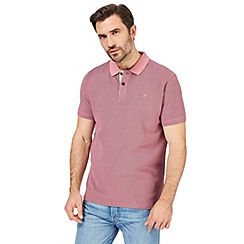 Mantaray - Big and tall pink textured tonal polo shirt