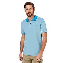 Mantaray - Big and tall light blue textured polo shirt