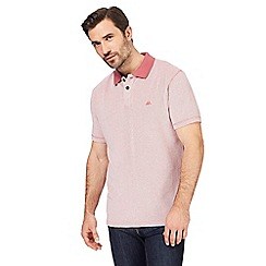 Mantaray - Big and tall red textured tonal polo shirt