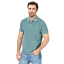 Mantaray - Big and tall green textured tonal polo shirt