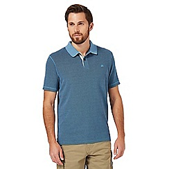 Mantaray - Big and tall dark blue textured polo shirt