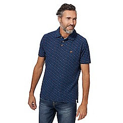 Mantaray - Big and tall navy printed polo shirt