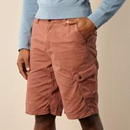 Big and tall terracotta basic cargo shorts