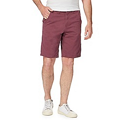 Mantaray - Big and tall red chino shorts