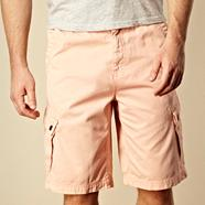 Big and tall light pink basic cargo shorts