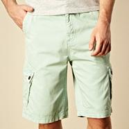 Light green basic cargo shorts