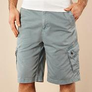 Light blue plain cargo shorts