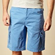 Big and tall bright blue basic cargo shorts