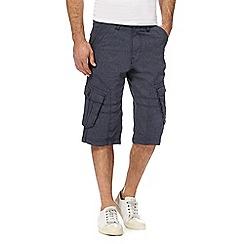 Mantaray - Navy pin dot cargo shorts