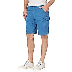 Mantaray - Big and tall blue cargo shorts