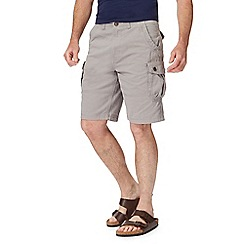 Mantaray - Big and tall grey cargo shorts