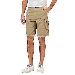 Mantaray - Big and tall taupe cargo shorts