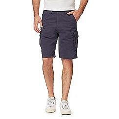 Mantaray - Big and tall navy cargo shorts