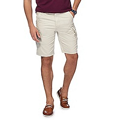 Mantaray - Big and tall cream cargo shorts