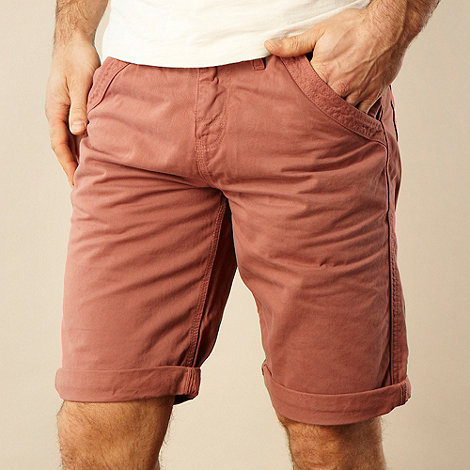 Mantaray - Big and tall dark pink chino shorts