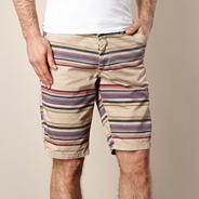 Natural striped chino shorts