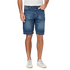 Mantaray - Big and tall blue vintage wash denim shorts