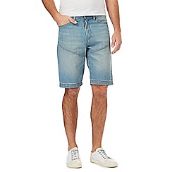 Mantaray - Blue vintage wash denim shorts
