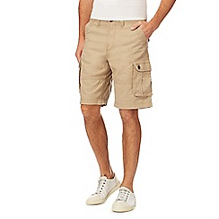 Mantaray - Taupe linen blend cargo shorts