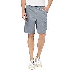 Mantaray - Big and tall blue crosshatch chino shorts