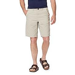 Mantaray - Big and tall natural basketweave chino shorts