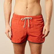Dark orange running style swim shorts