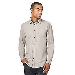 Mantaray - Grey basketweave regular shirt