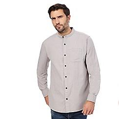 Mantaray - Grey collarless patterned shirt