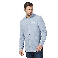 Mantaray - Big and tall blue marl shirt