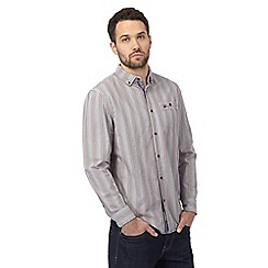 Mantaray - Purple striped regular shirt