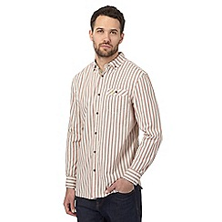 Mantaray - Orange striped regular shirt