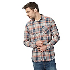Mantaray - Big and tall orange and navy checked shirt