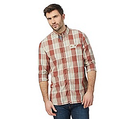 Mantaray - Big and tall dark orange checked shirt