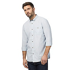 Mantaray - Blue textured striped shirt