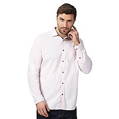 Mantaray - Big and tall pink printed shirt