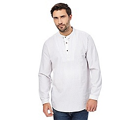 Mantaray - White dobby stitch layered shirt