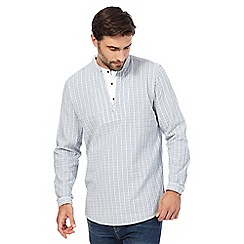 Mantaray - Blue dobby stitch layered shirt