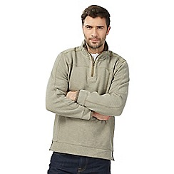 Mantaray - Big and tall natural pique zip neck sweater