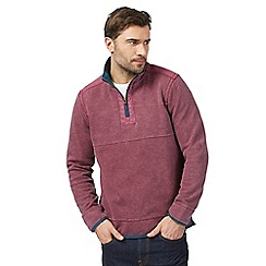 Mantaray - Big and tall pink pique zip neck sweater