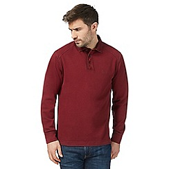 Mantaray - Big and tall dark red rugby shirt