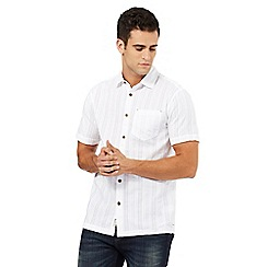 Mantaray - White textured short sleeve shirt