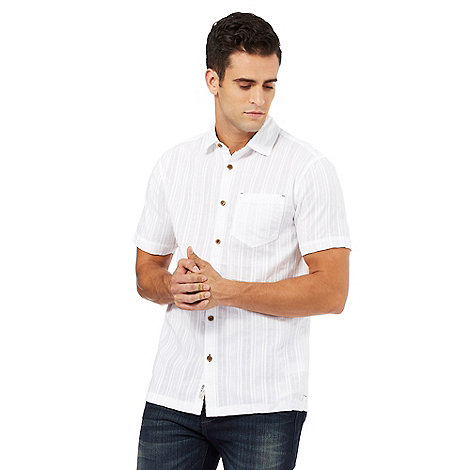 Mantaray - Big and tall white textured short sleeve shirt