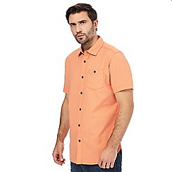 Mantaray - Big and tall orange short sleeved patterned shirt
