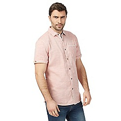 Mantaray - Big and tall pink marl short sleeved shirt