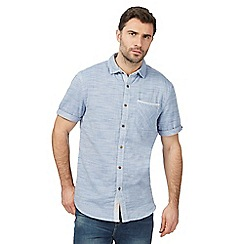 Mantaray - Big and tall blue marl short sleeved shirt