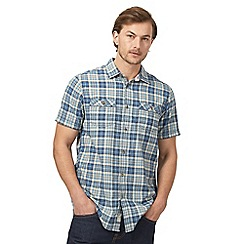 Mantaray - Big and tall blue checked shirt